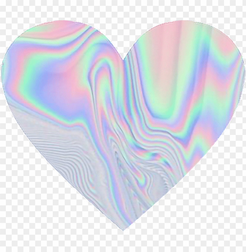 free PNG holographic holo pastel rainbow heart love - rainbow love heart PNG image with transparent background PNG images transparent