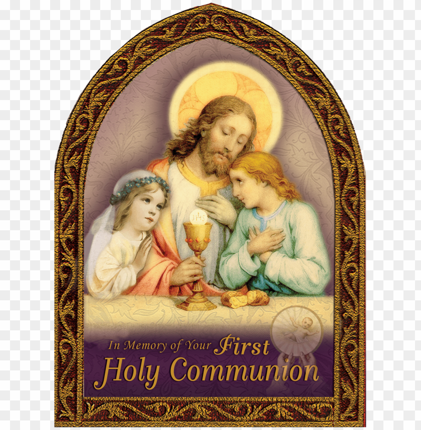free PNG holy first communion greeting card - first holy communion cards PNG image with transparent background PNG images transparent