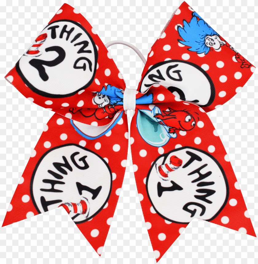 free PNG home / accessories / bows & headwear / patterned bows - thing one PNG image with transparent background PNG images transparent