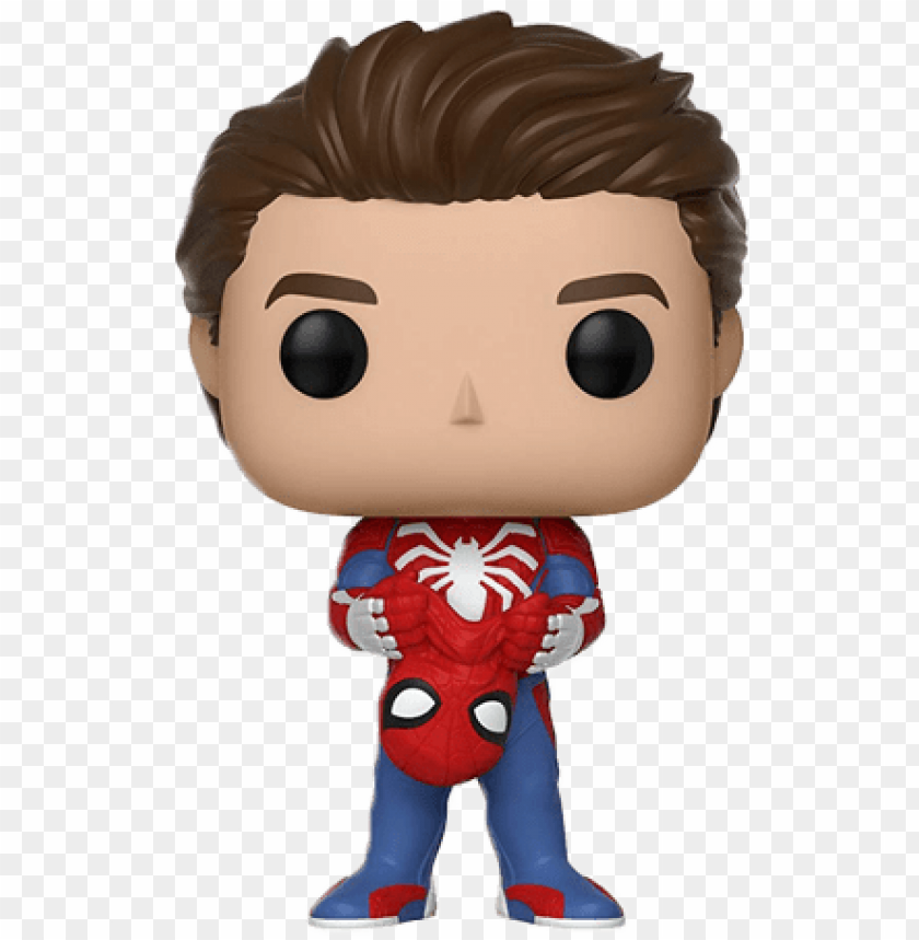 Homem Aranha Sem Mascara Funko Pop Spiderman Ps4 Png Image With