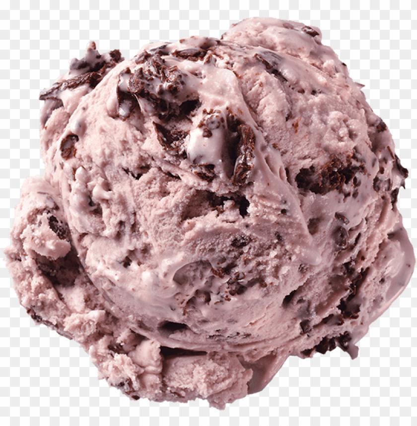 black raspberry chip ice cream scoop