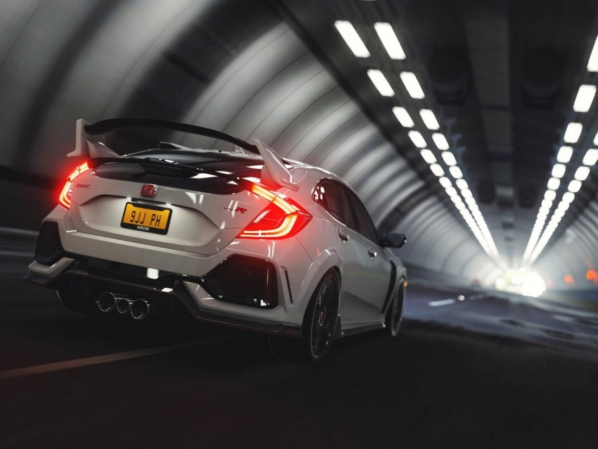free PNG honda civic type r, honda type r, honda, tunnel, race background PNG images transparent