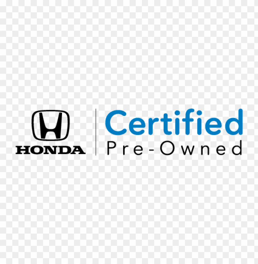 free PNG honda's certified logo vector PNG images transparent