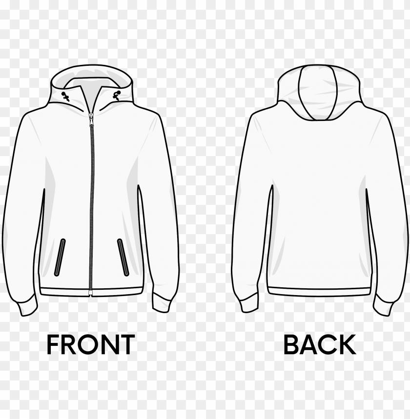 Hoodie T Shirt Jacket Collar Hoodie Jacket Template Png Image