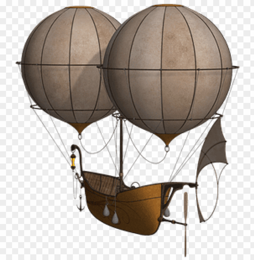free PNG hot air balloon aircraft balloon airship f - steampunk hot air balloon PNG image with transparent background PNG images transparent