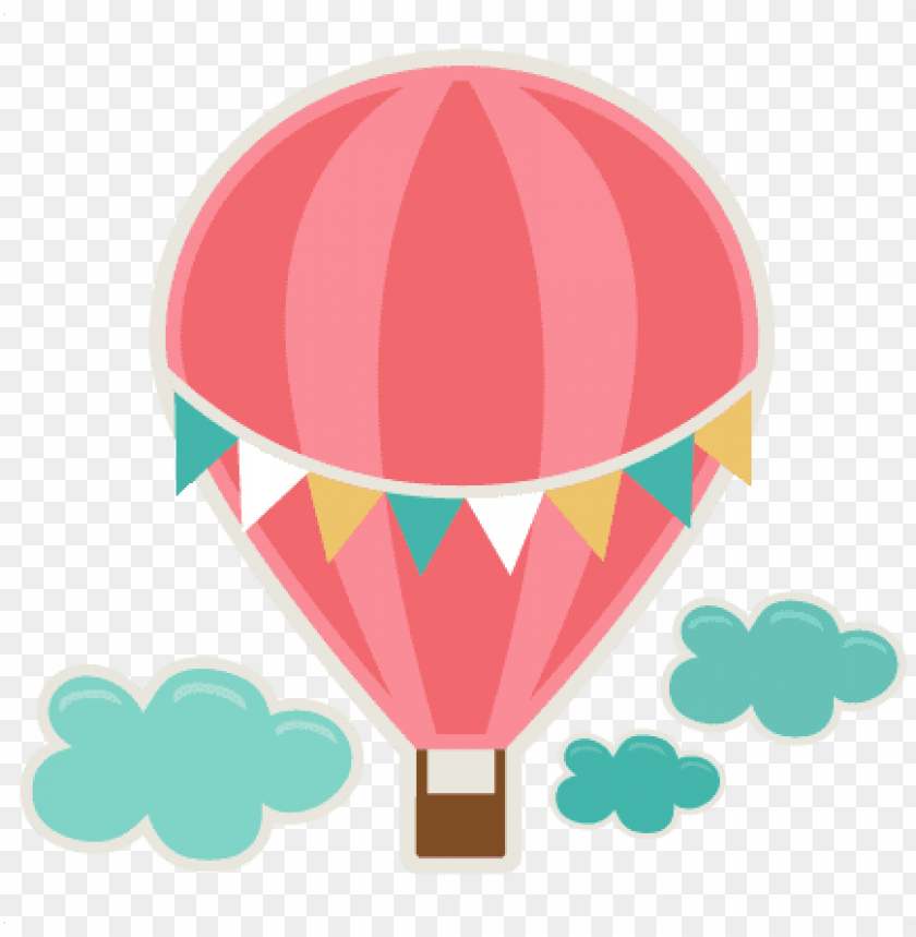 free PNG hot air balloon svg cutting file for scrapbooks svg - hot air balloons printables PNG image with transparent background PNG images transparent
