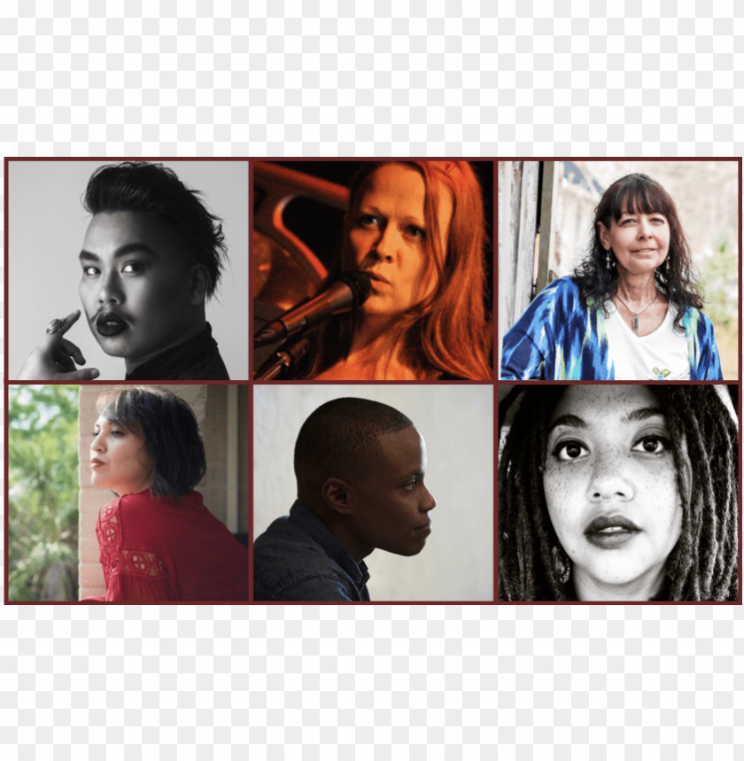 free PNG hoto collage of the six poets - collage PNG image with transparent background PNG images transparent