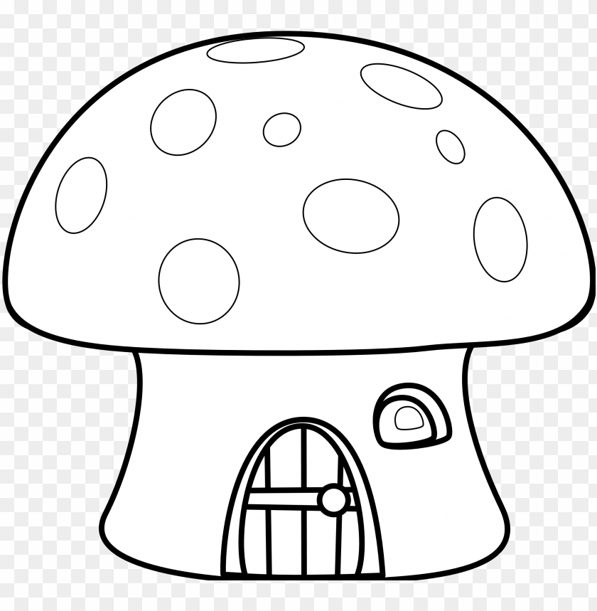House Black And White House Black White Clipart Mushroom House