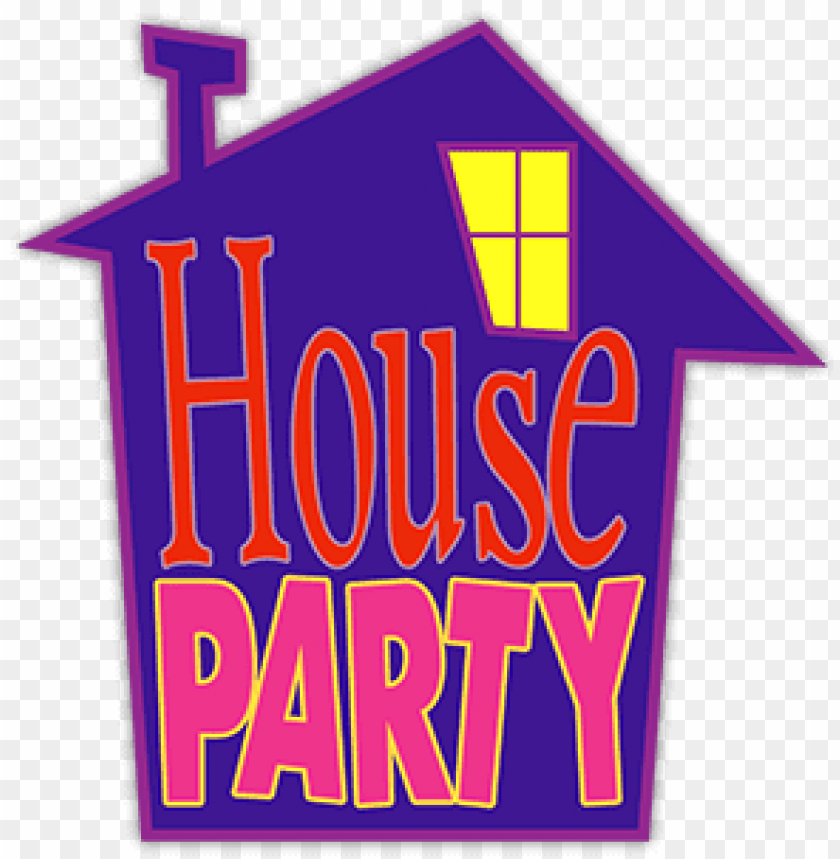 free PNG house party logo png - house party movie clipart PNG image with transparent background PNG images transparent