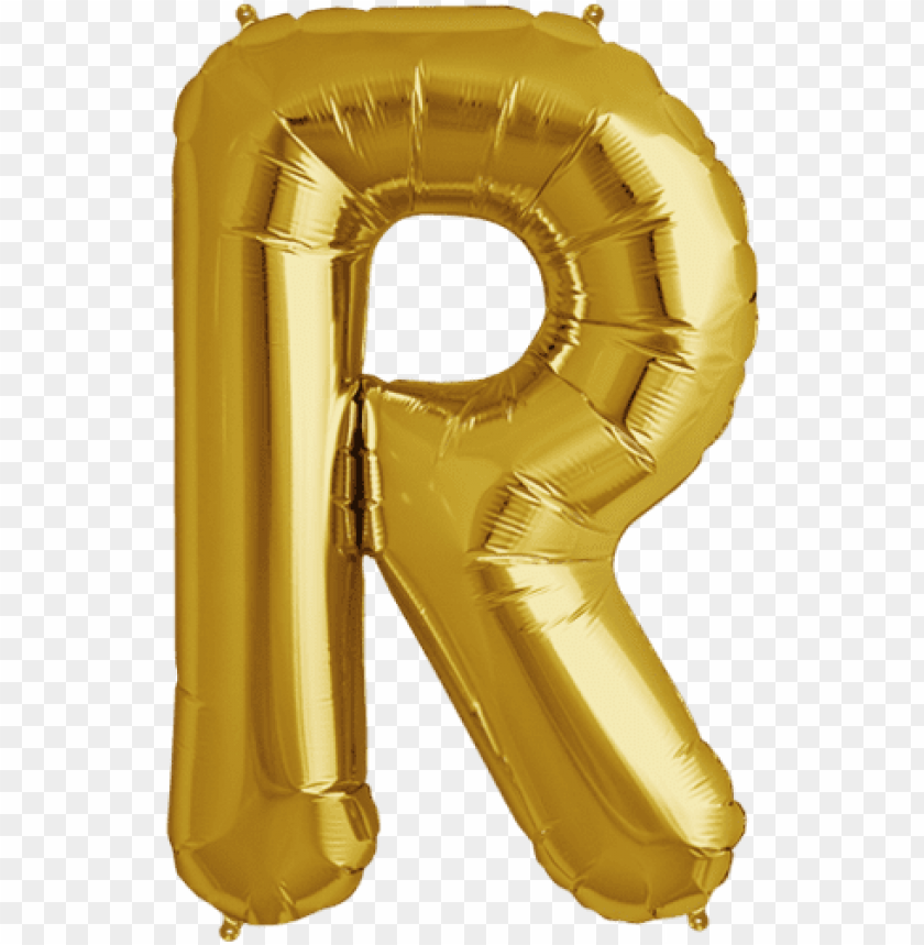 free PNG how much are letter balloons 34quot gold letter r foil - gold letter r balloo PNG image with transparent background PNG images transparent