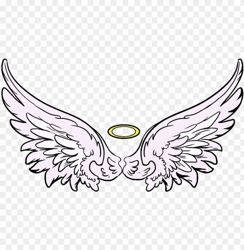 free PNG how to draw angel wings in a few easy steps easy drawing - draw angel wings PNG image with transparent background PNG images transparent