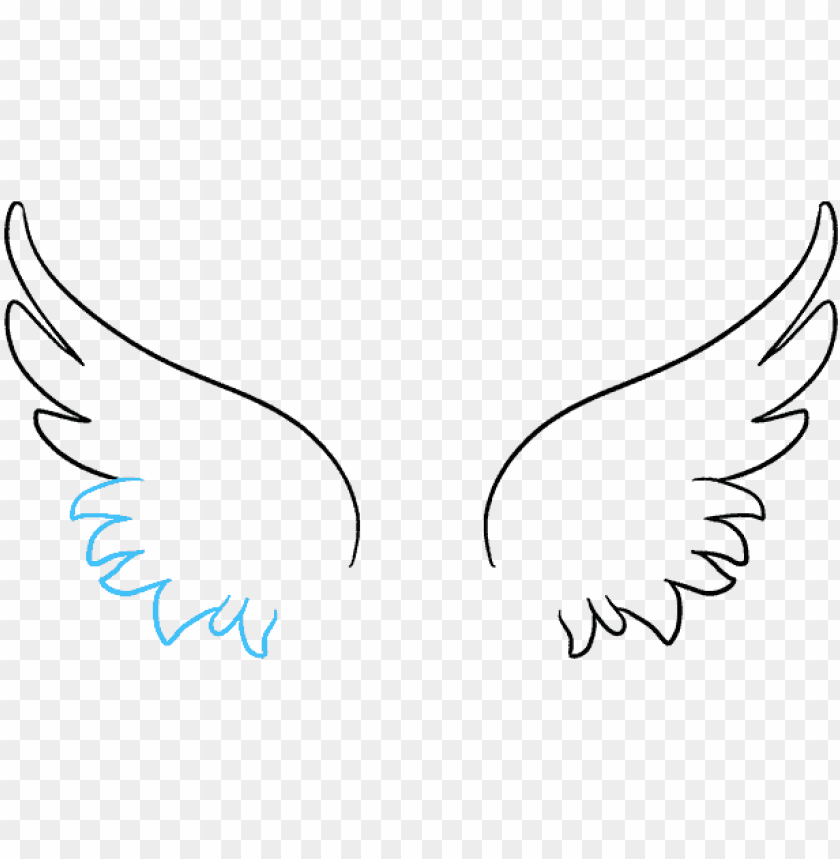free PNG how to draw angel wings in a few easy steps easy drawing - drawi PNG image with transparent background PNG images transparent