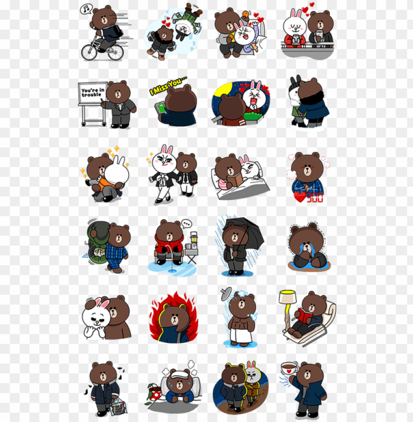 free PNG how to get free line stickers via register phone number - brown and cony my love from the star PNG image with transparent background PNG images transparent