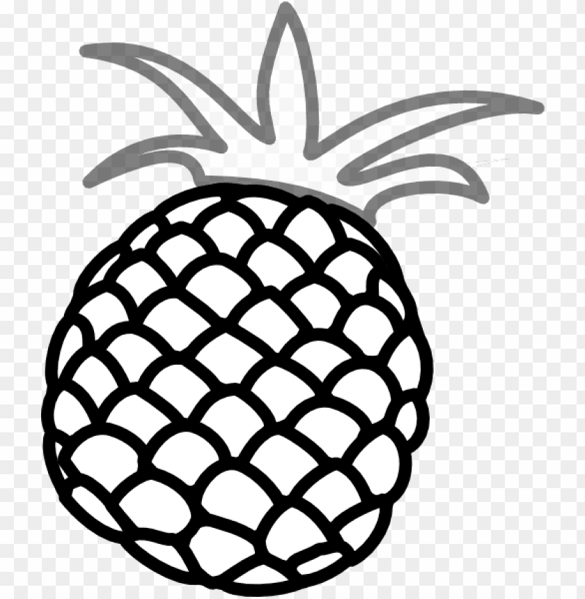 How To Set Use Pineapple Grey 2 Clipart Pineapple Clipart Black And White Png Image With Transparent Background Toppng