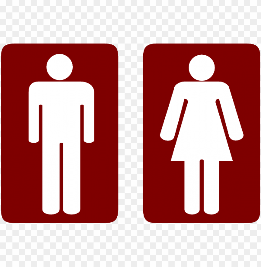 free PNG how to set use restroom man and woman clipart - signs of comfort room PNG image with transparent background PNG images transparent