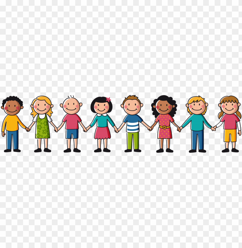 free PNG how we can help - kids holding hands clipart PNG image with transparent background PNG images transparent