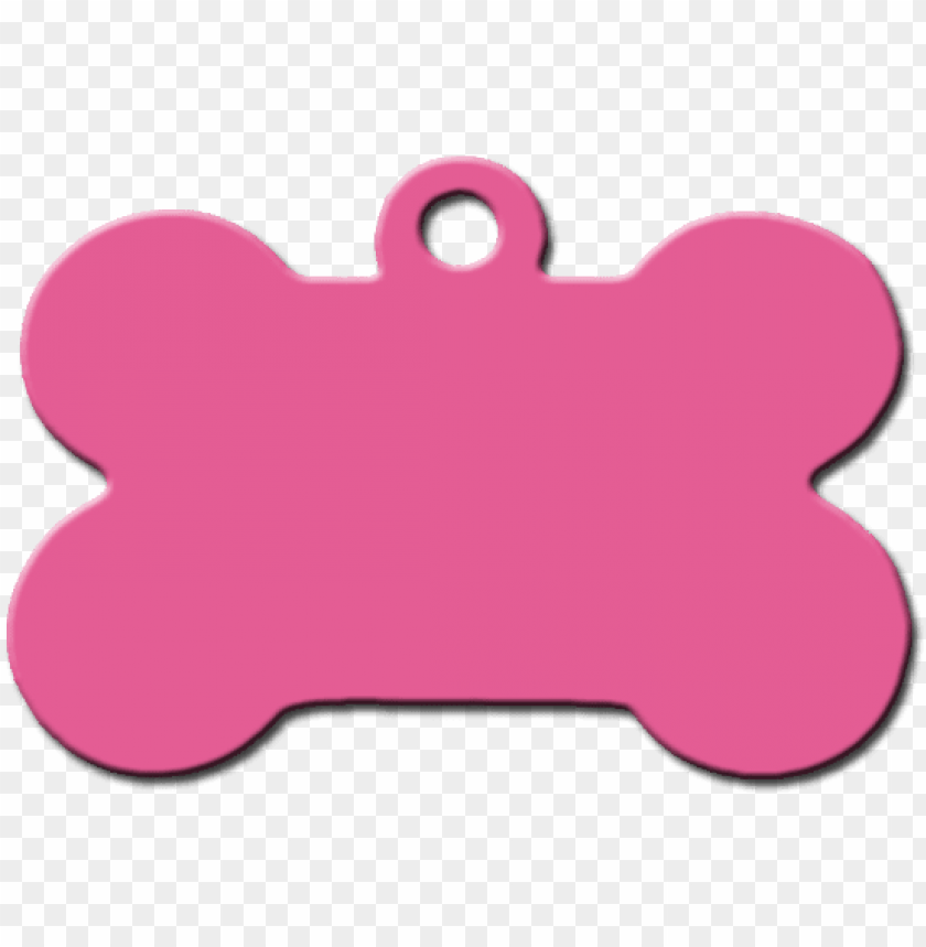 free PNG hueso rosa aluminio placas identificativas para perros - hueso de perro collar PNG image with transparent background PNG images transparent