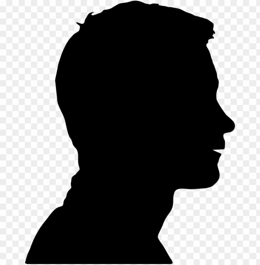free PNG human head face silhouette brain - human head silhouette PNG image with transparent background PNG images transparent