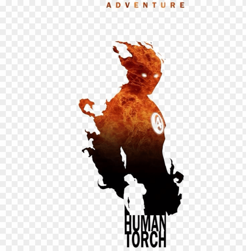 free PNG human torch png photo - silhouette marvel logo superhero PNG image with transparent background PNG images transparent