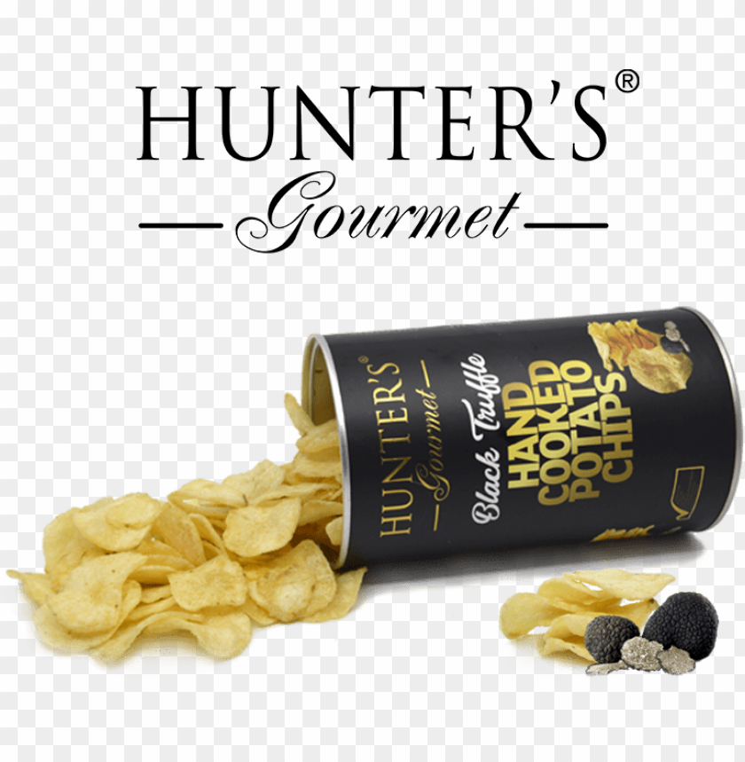 free PNG hunter foods black truffle hand cooked potato chips - potato chi PNG image with transparent background PNG images transparent
