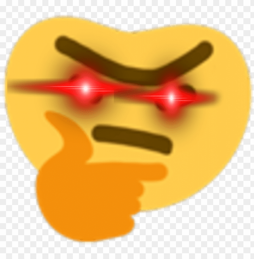 Hyperdrunkthonk Discord Emoji Thinking Emoji Deep Fried Png Image With Transparent Background Toppng