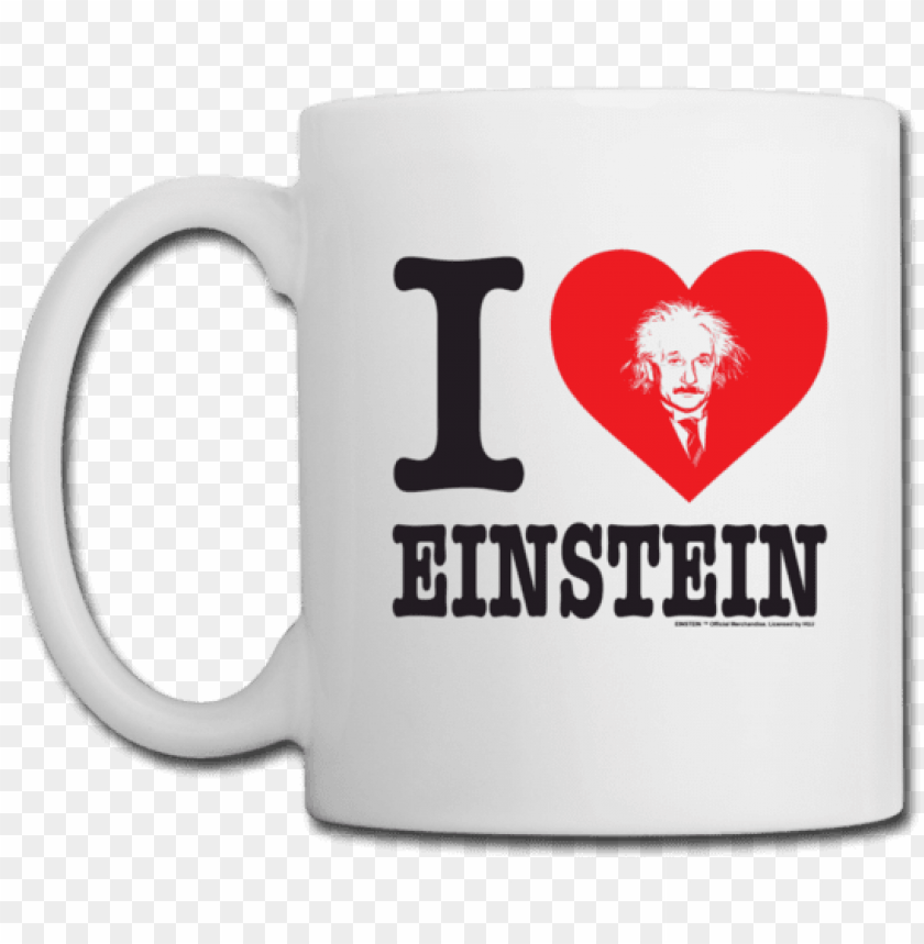 i heart einstein mug - beer stei PNG image with transparent background@toppng.com