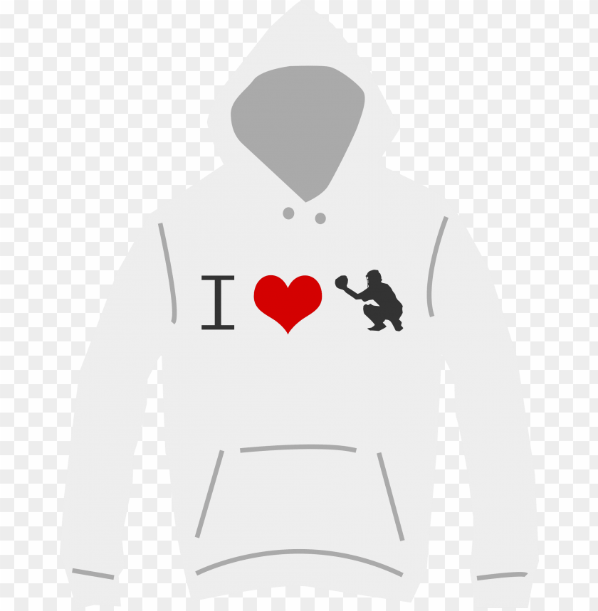 free PNG i love baseball hoodie PNG image with transparent background PNG images transparent