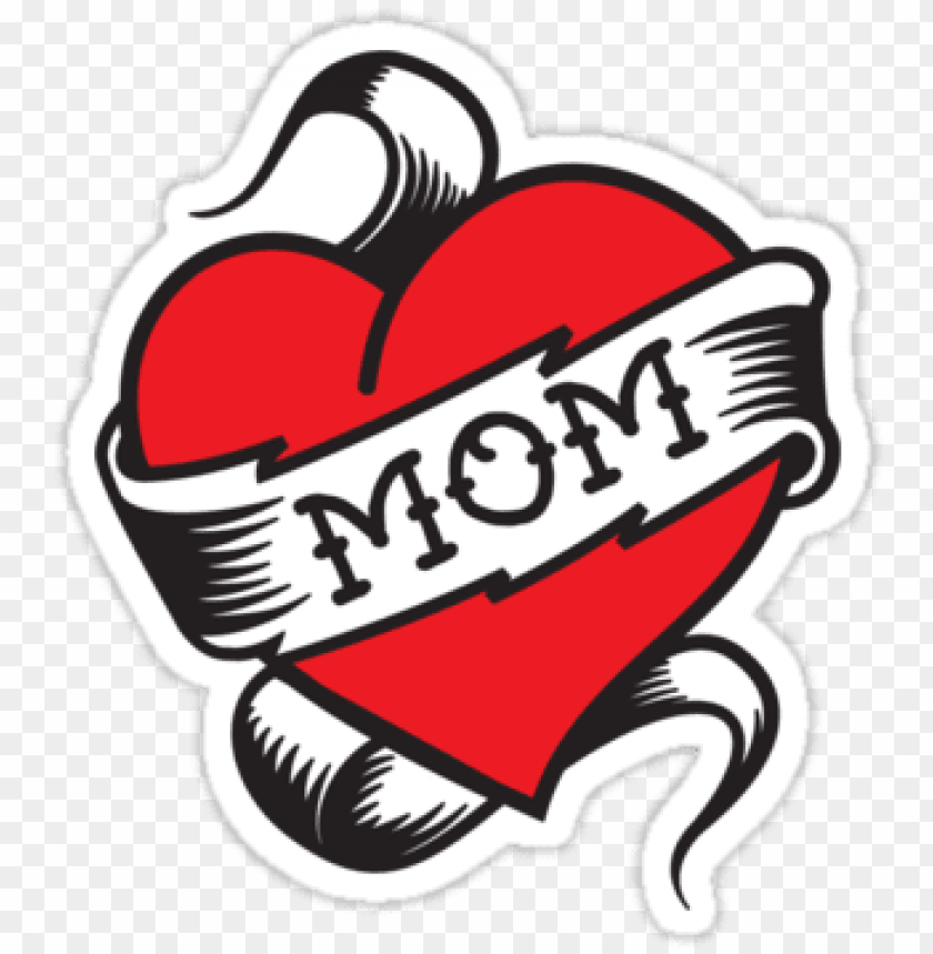 free PNG i love mom heart tattoo png - mom tattoo PNG image with transparent background PNG images transparent