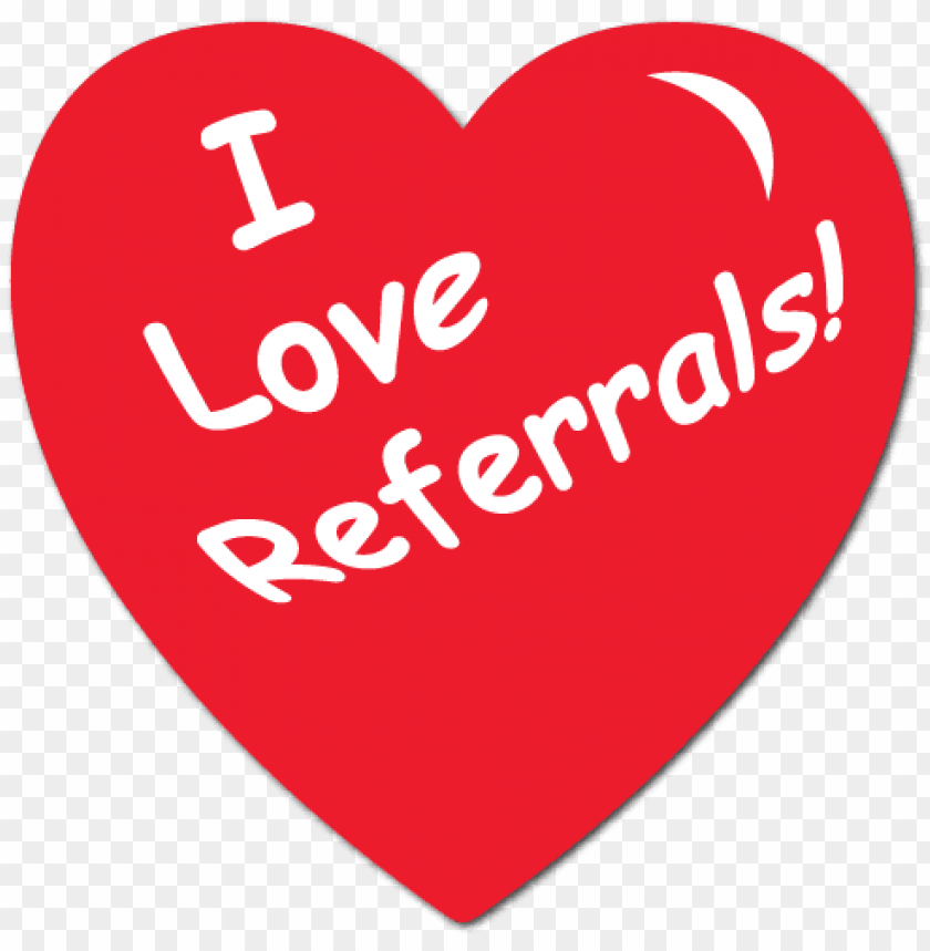 """free PNG """"i love referrals"""" heart shape stickers - love referrals PNG image with transparent background PNG images transparent"""