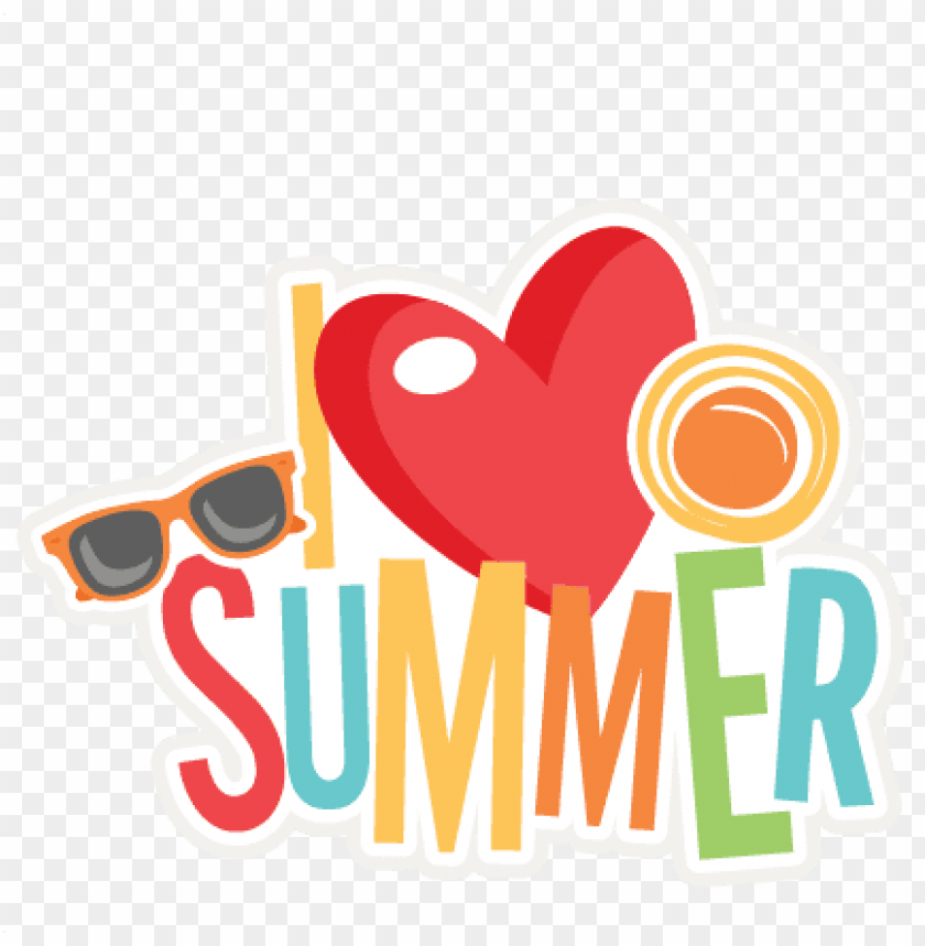 free PNG i love summer title svg scrapbook cut file cute clipart - cute summer clipart PNG image with transparent background PNG images transparent