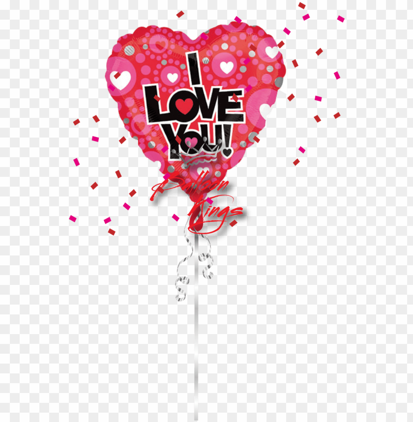 free PNG i love you heart dot - 18 inch love heart dot pattern 2s- flat PNG image with transparent background PNG images transparent
