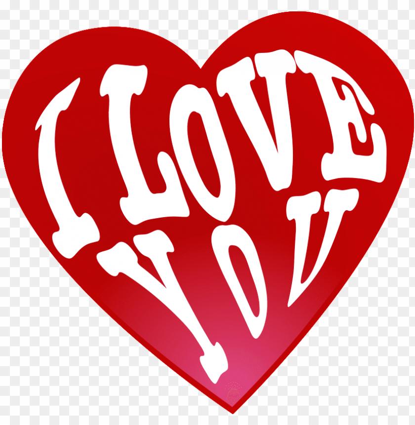 free PNG i love you png heart transparent - heart PNG image with transparent background PNG images transparent