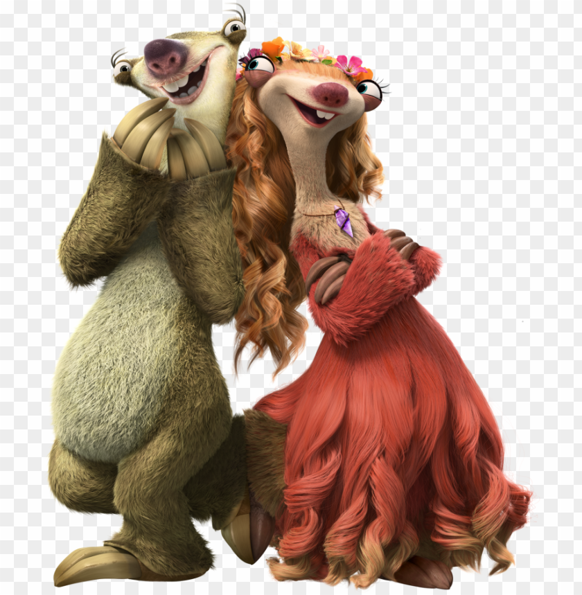 free PNG ia5 char shot sid brooke 2 ice age sid, ice age collision - sid y brooke la era de hielo PNG image with transparent background PNG images transparent
