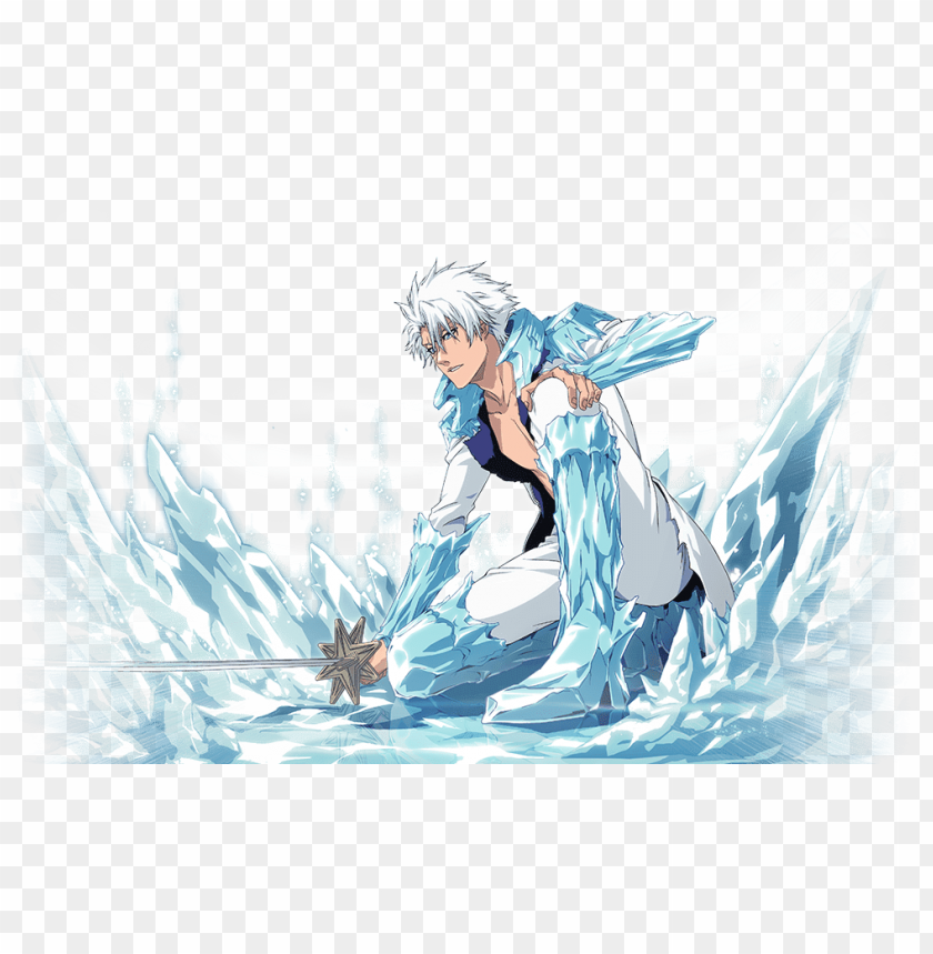 Ic Toshiro Hitsugaya Bleach Brave Souls Png Image With Transparent Background Toppng