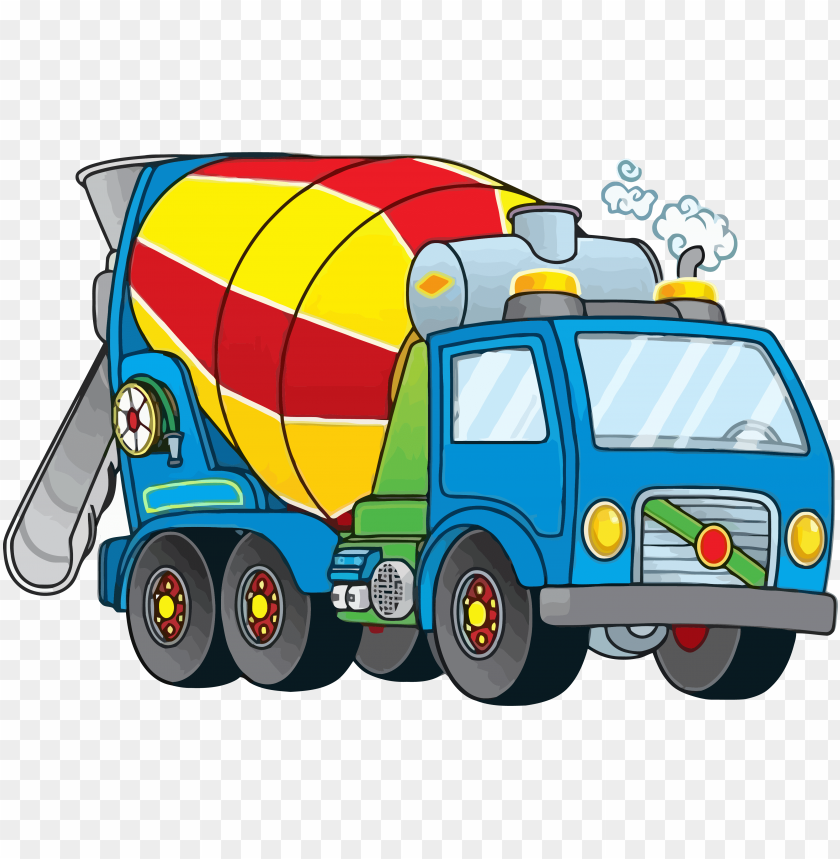 Ice Cement Truck Clipart Png Cement Mixer Truck Clipart Png Image With Transparent Background Toppng