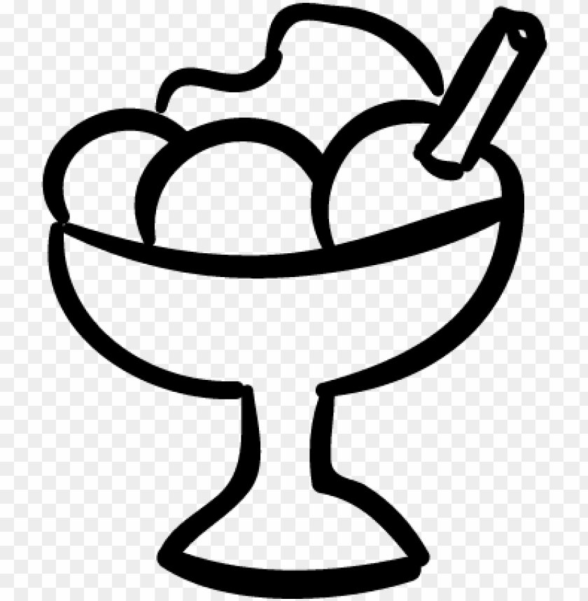 free PNG ice cream hand drawn dessert cup vector - ice cream dessert icon PNG image with transparent background PNG images transparent