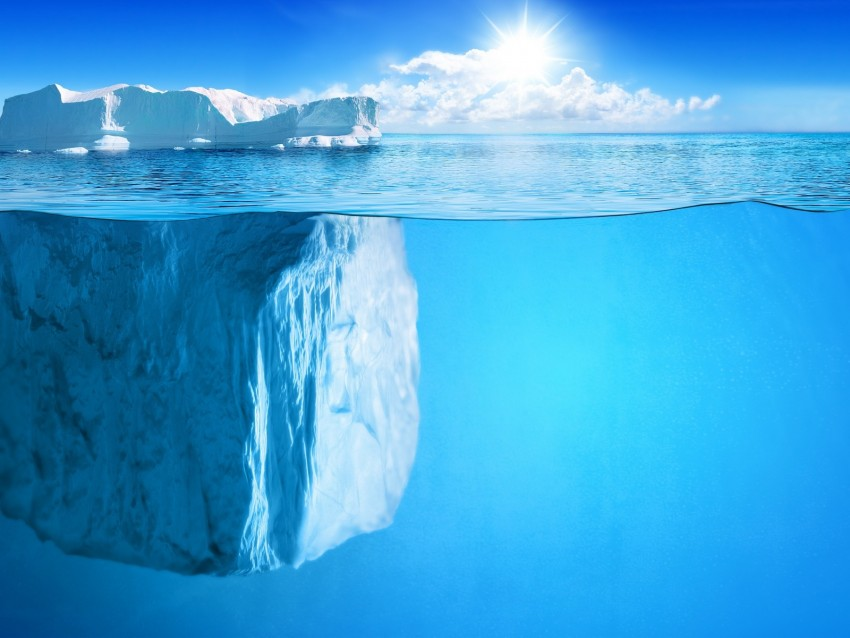 free PNG iceberg, horizon, under water, sun, rays background PNG images transparent