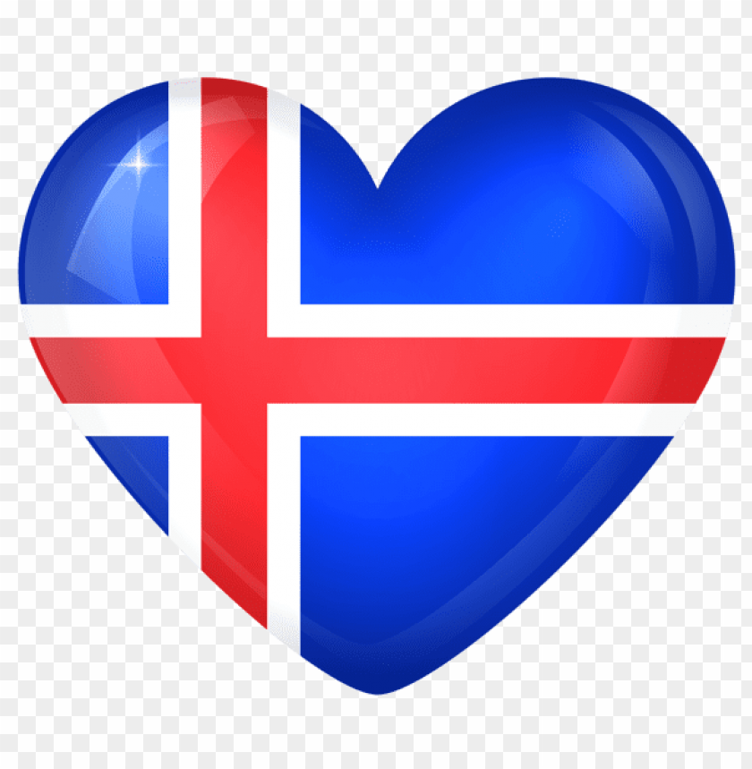 free PNG Download iceland large heart flag clipart png photo   PNG images transparent