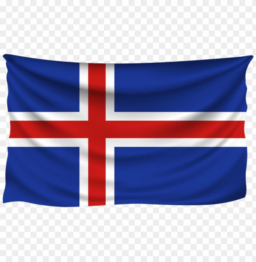 free PNG Download iceland wrinkled flag clipart png photo   PNG images transparent