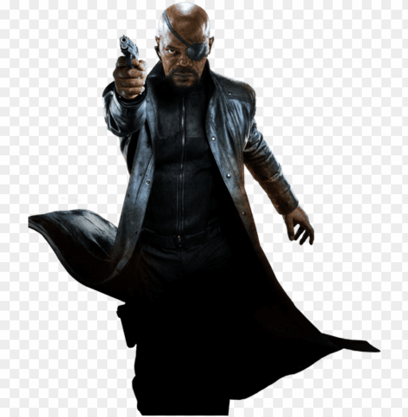 free PNG ick fury samuel l jackson full body - nick fury avengers PNG image with transparent background PNG images transparent