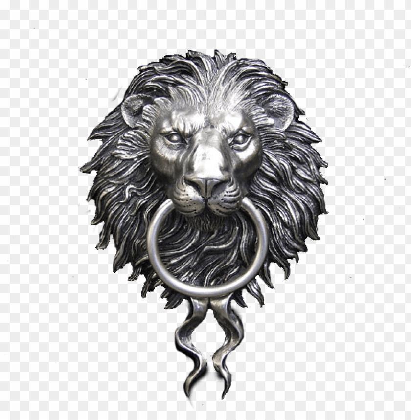 Ickel Plated Lion Head Door Knocker