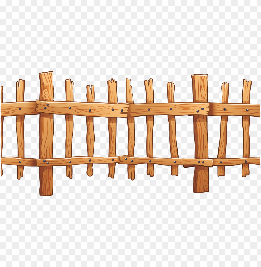 free PNG icket fence wood illustration - vector wood fence PNG image with transparent background PNG images transparent