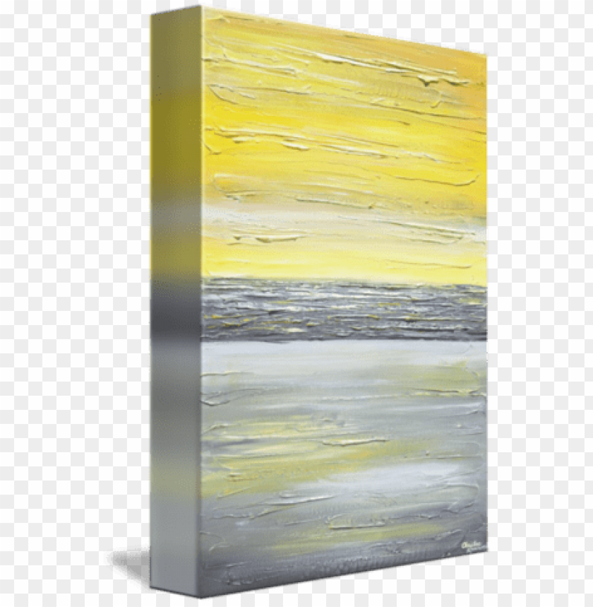 free PNG iclee print art abstract yellow grey painting vertical - yellow white and black abstract art grey wall PNG image with transparent background PNG images transparent