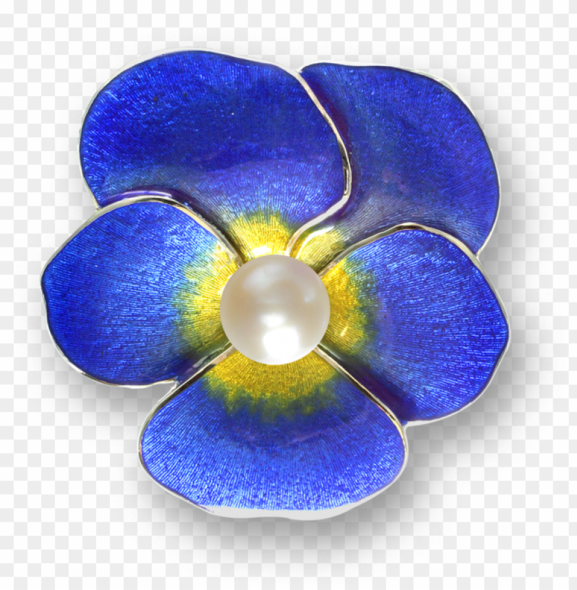 free PNG icole barr designs sterling silver pansy choker necklace-blue - blue pansy brooch - sterling silver PNG image with transparent background PNG images transparent