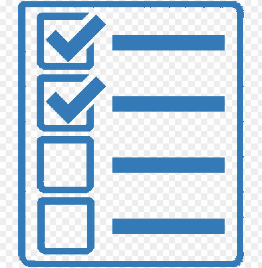 icon checklist blue - check list blue ico PNG image with transparent background@toppng.com