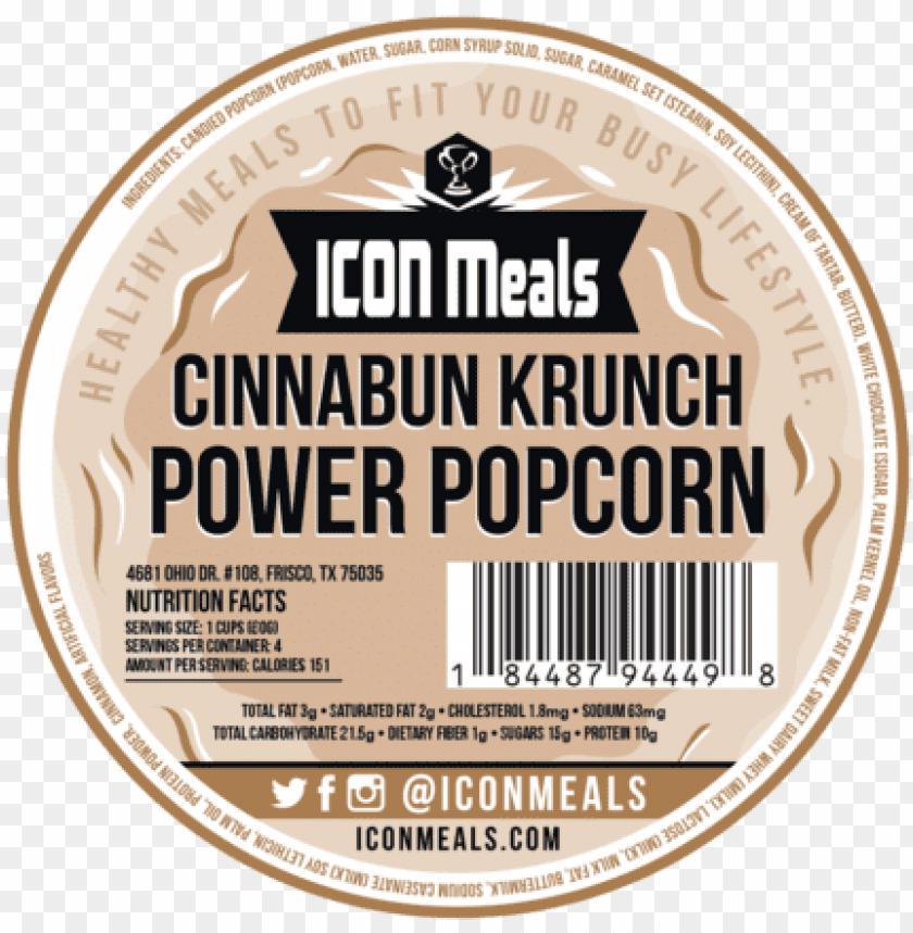 free PNG icon meals protein popcorn cinnabun krunch icon meals - icon meals, inc png - Free PNG Images PNG images transparent