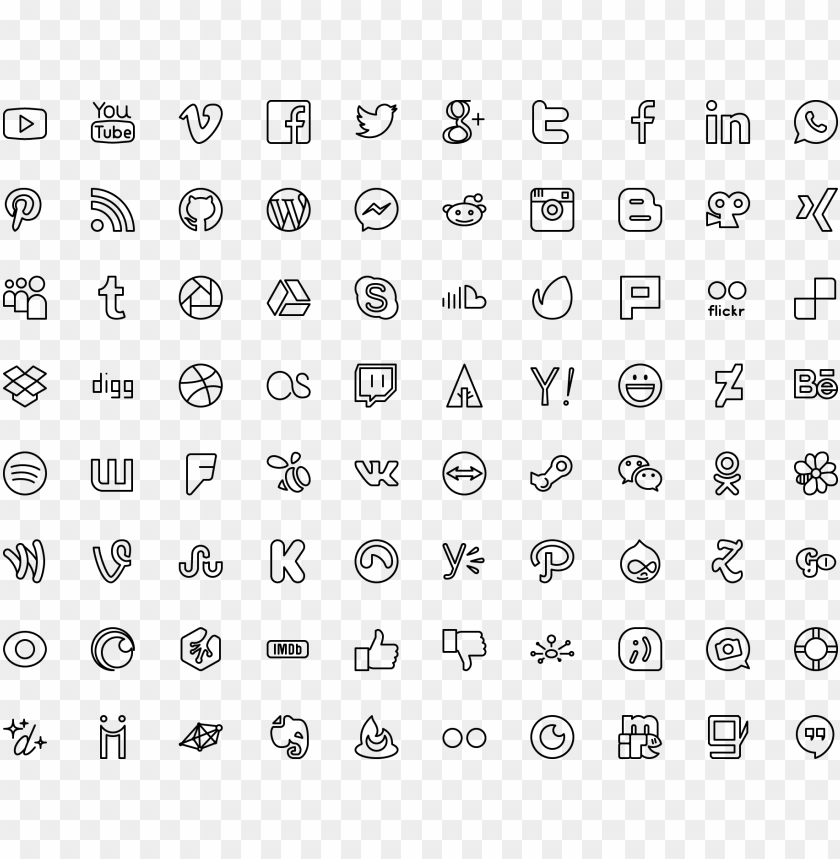 free PNG icon social icons - google material icons vector png - Free PNG Images PNG images transparent