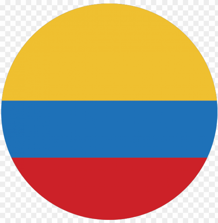 free PNG Ícono con bandera de colombia - circle PNG image with transparent background PNG images transparent