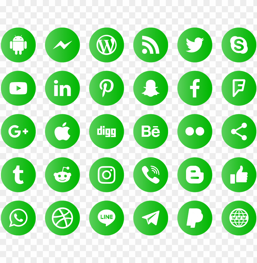 free PNG icons social media svg eps  psd ai vector - 32 px social media icons png - Free PNG Images PNG images transparent