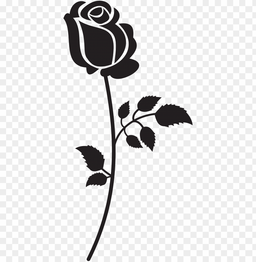 Black and White Rose Clip Art